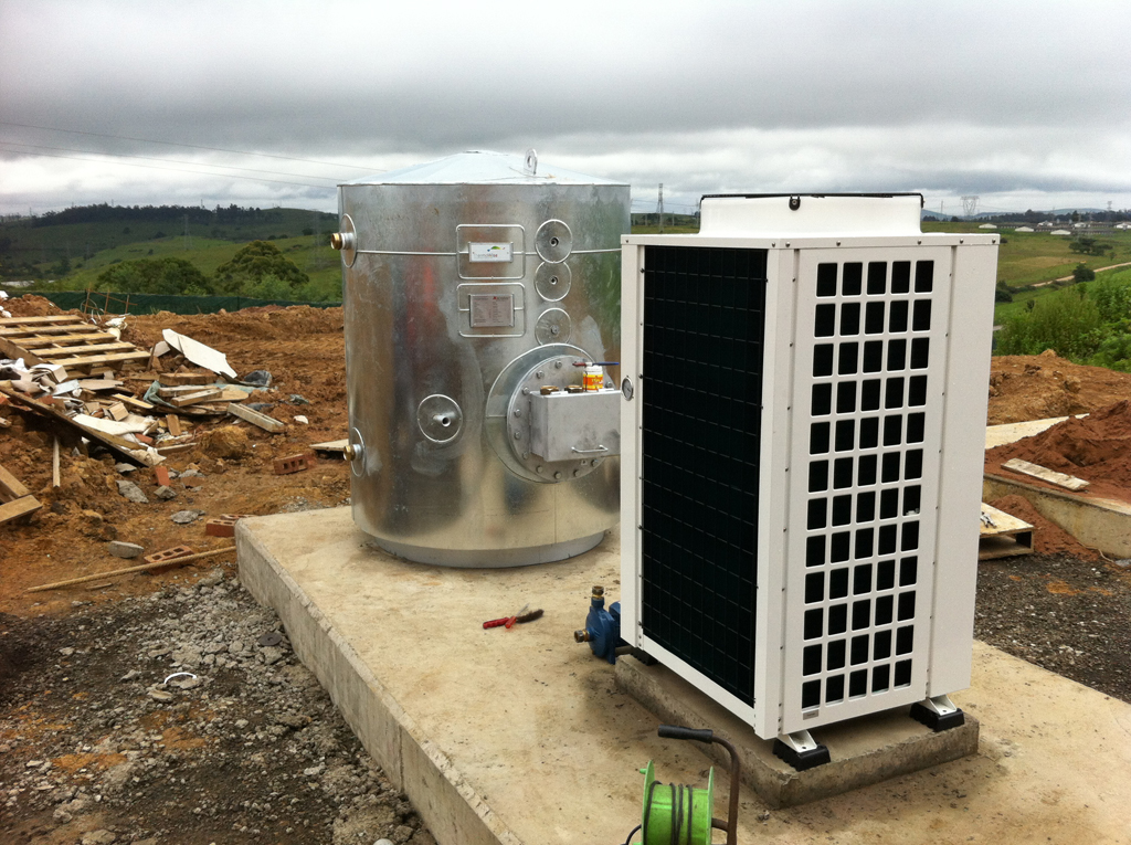 Thermowise On Site heat pump and tank installation
