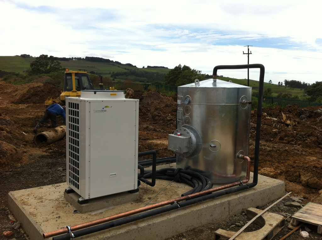 Thermowise On Site heat pump and tank installation 2