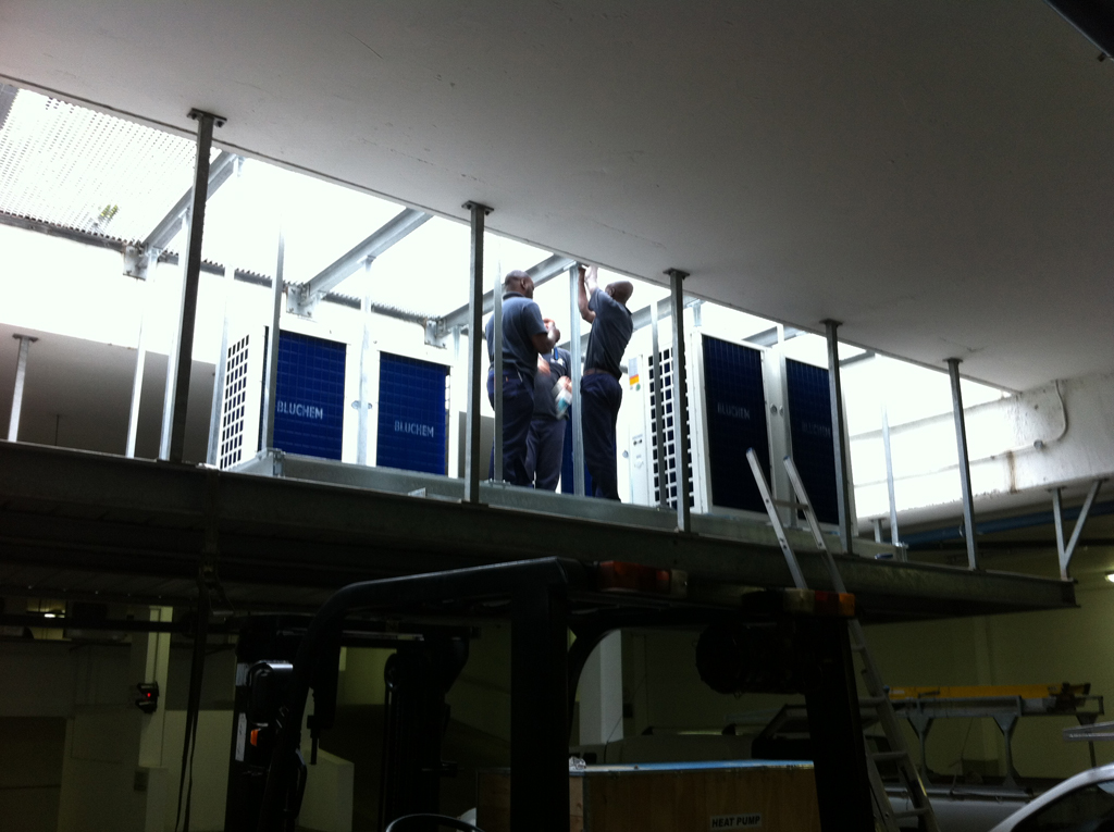 Team at work - PROTEA HOTEL UMHLANGA Thermowise heat pump installation