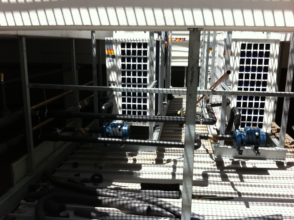 Team at work - PROTEA HOTEL UMHLANGA Thermowise heat pump installation 6