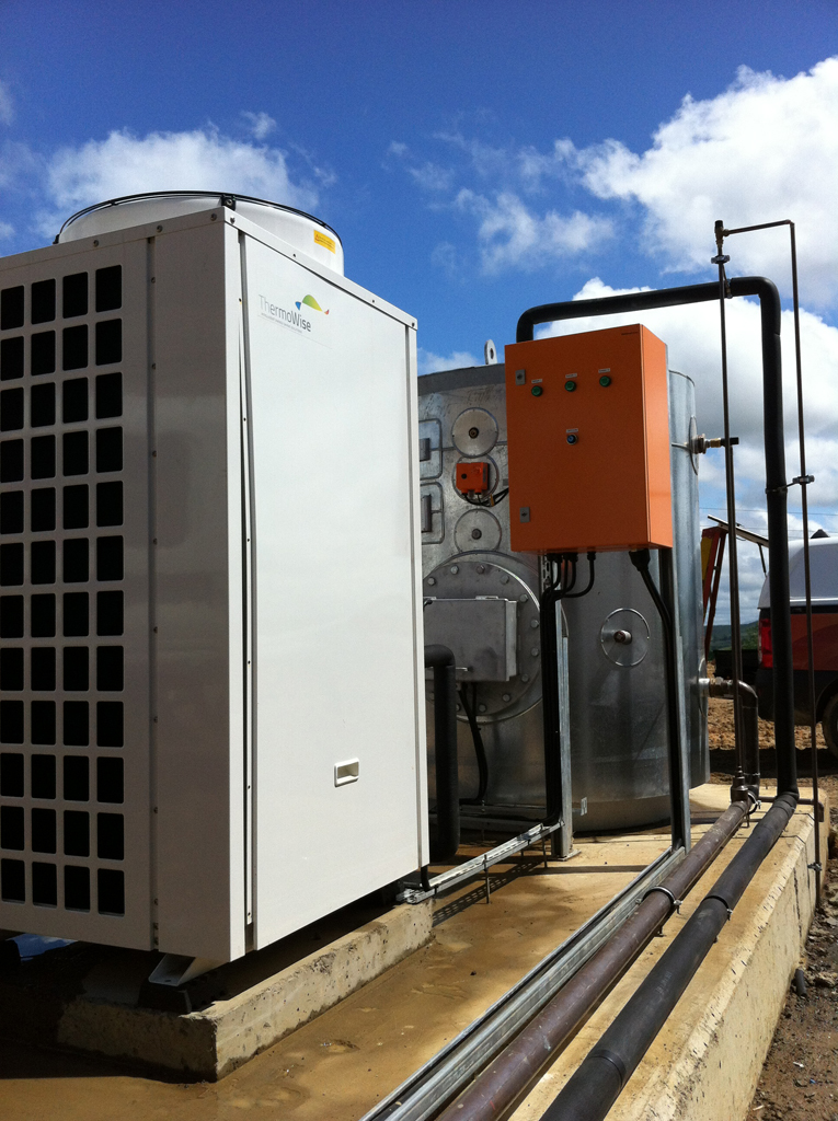 Thermowise On Site heat pump, tank and control installation 2