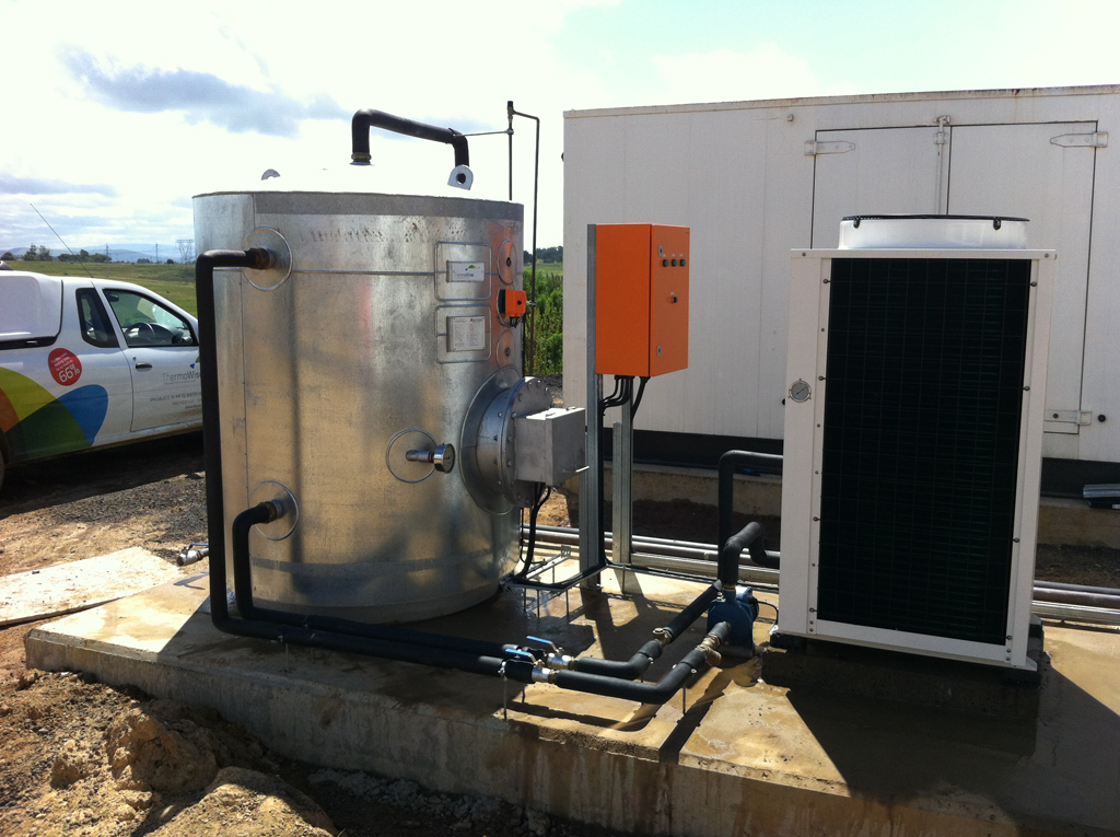 Thermowise On Site heat pump and tank installation 4