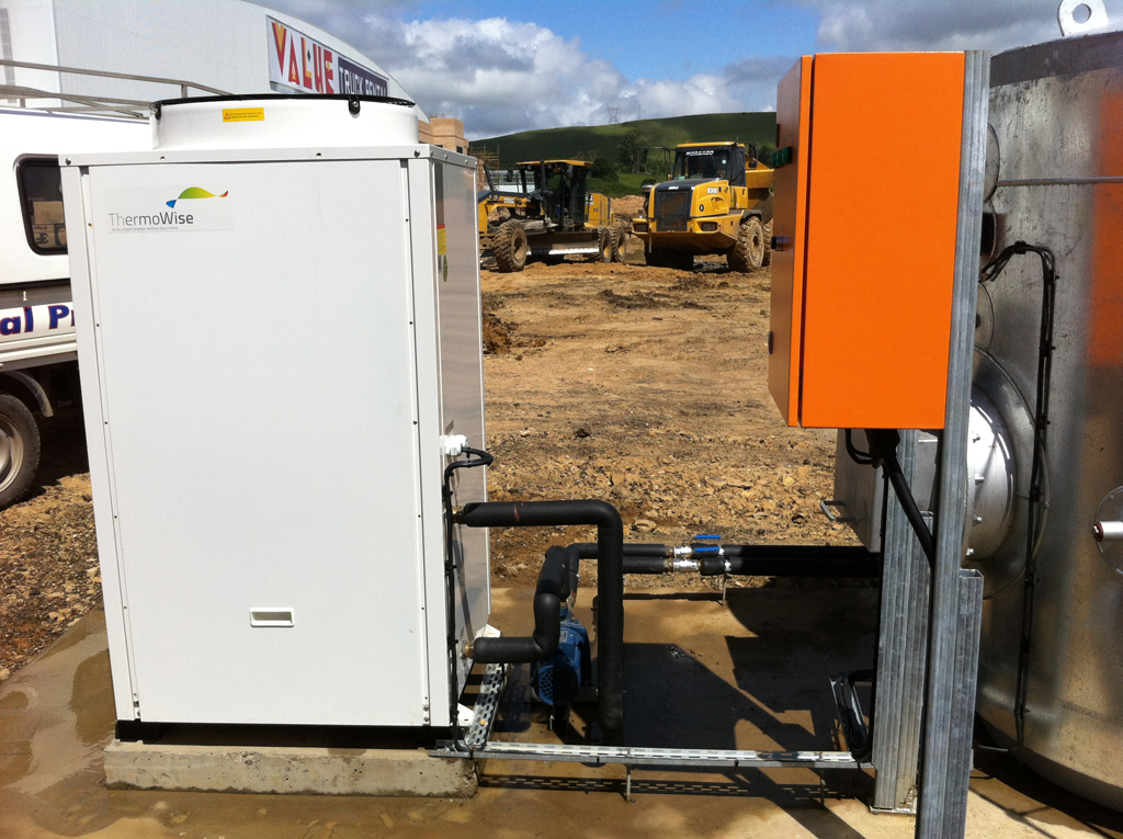 Thermowise On Site heat pump, tank and control installation
