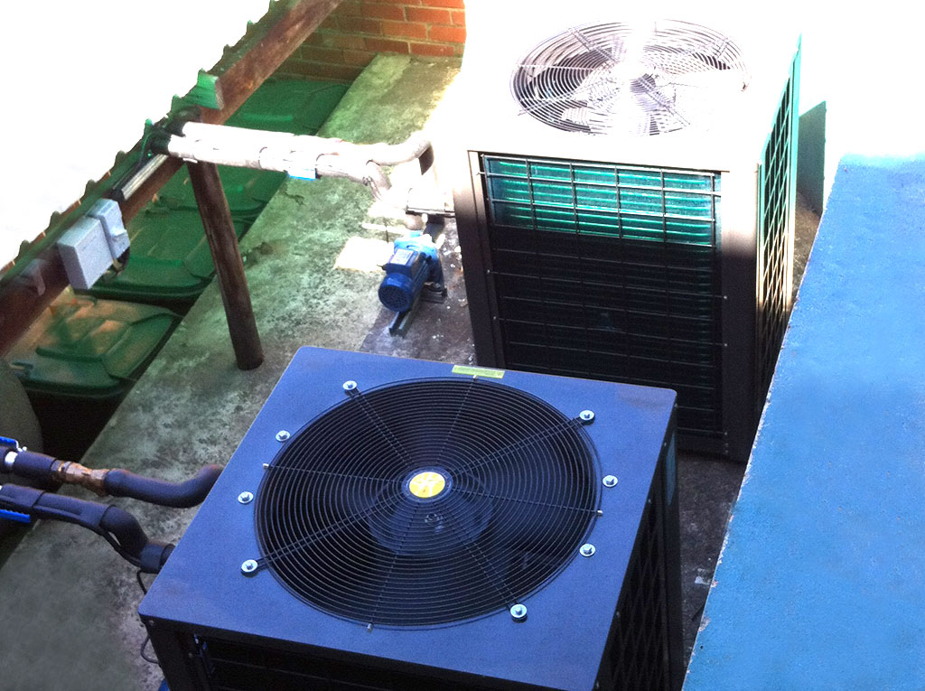 Durban Girls College top view installation image of TKRS 200E SN M Heat Pump