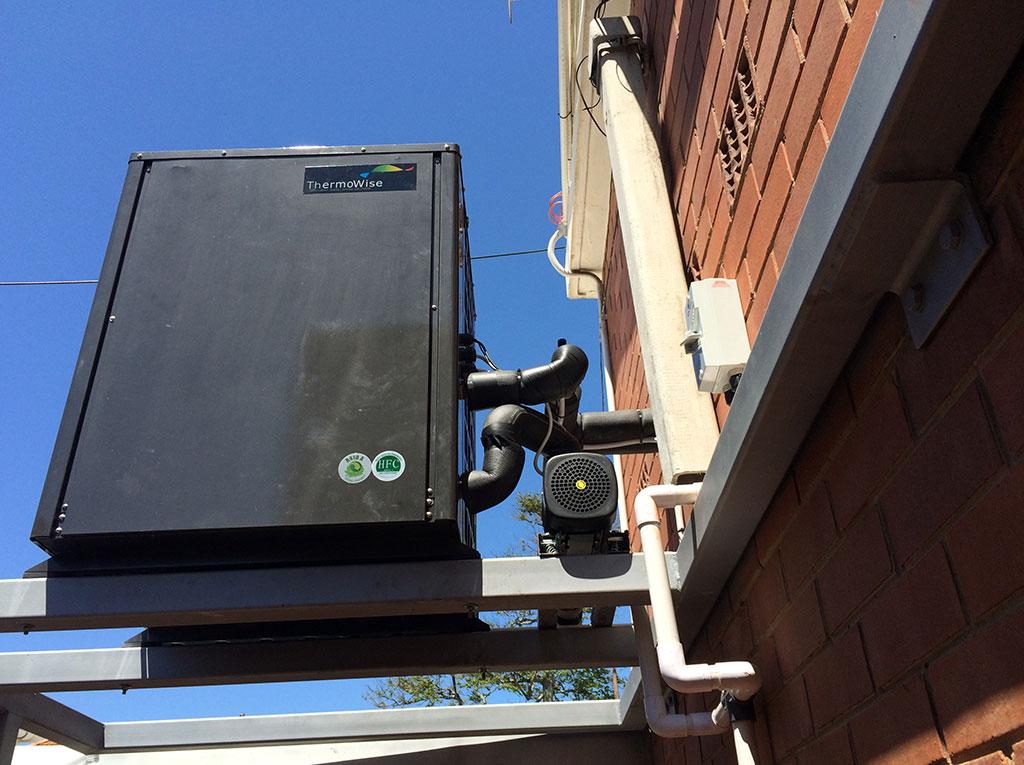 Glenwood Boys installation of TKRS 450E N2 M Heat Pump pipe View 1